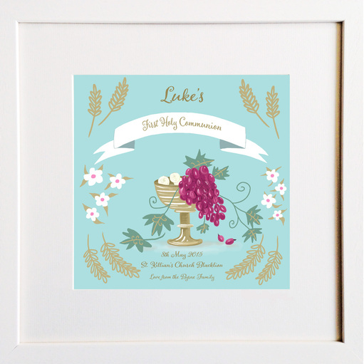 Communion Personalised Print by Hairy Fruit Art